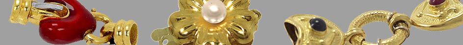 Cierres collar de oro