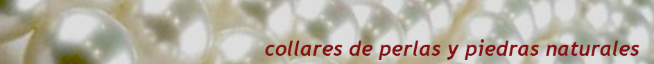 Collares perlas y piedras naturales