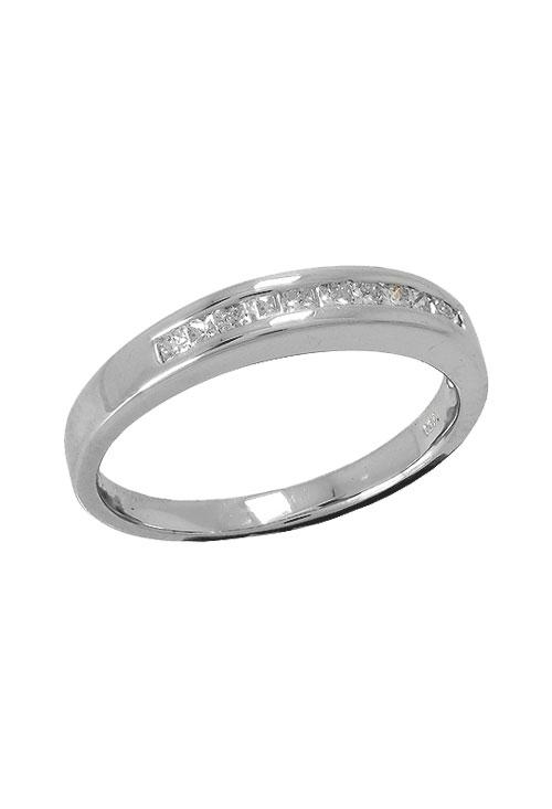 5cde233104e4 Anillo de compromiso media alianza oro blanco con diamantes 026 E101