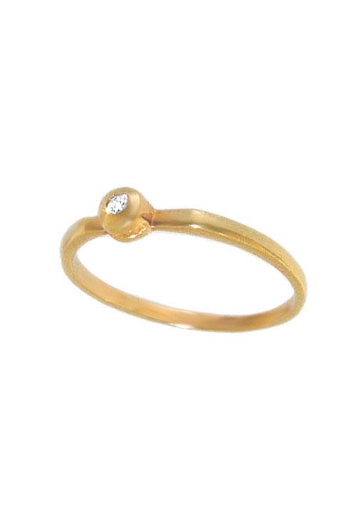 6dfaece3be60 Anillo de compromiso oro amarillo con diamante Z0013-OA