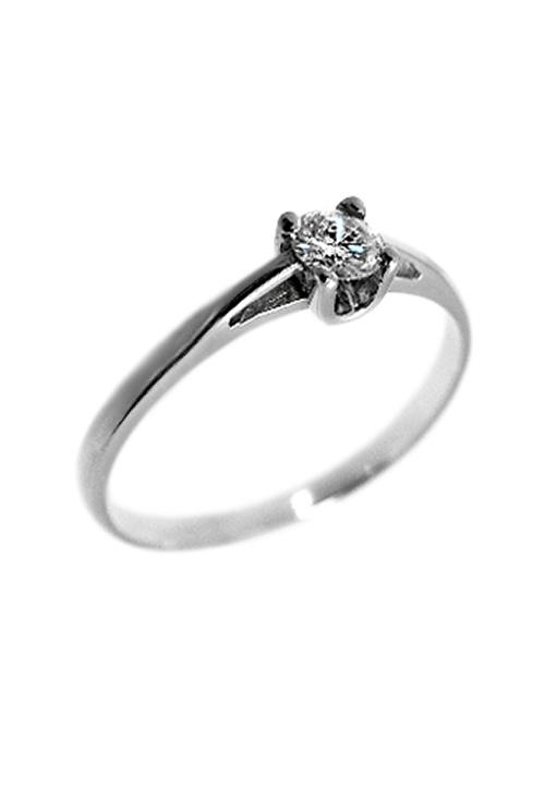 2580f21180a0 Anillo de compromiso oro blanco y diamante