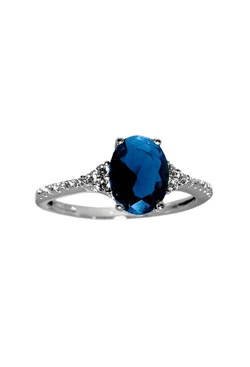 3765ef706376 Anillo oro blanco y piedra azul 243 349-00532-A-S