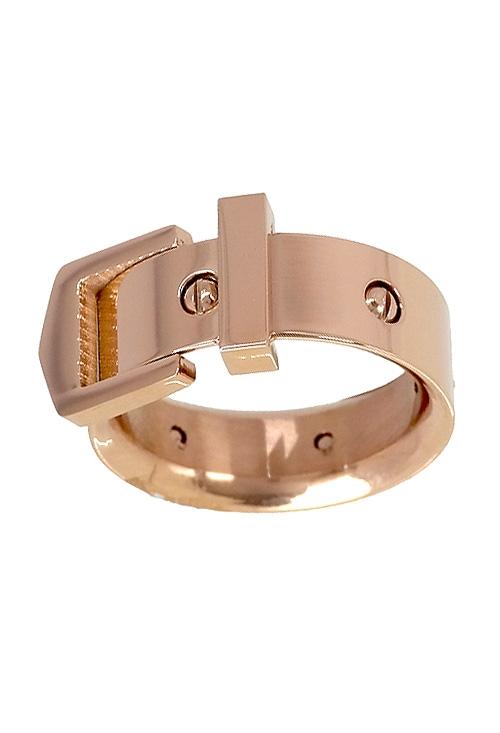 Anillo para mujer en acero color oro rosa con forma de cinturón 276 A2033-R a16fe36affcf