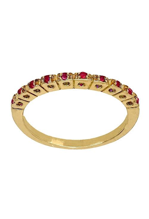 a420d696f980 Anillo ajustador de oro 18 ktes. con rubíes finos