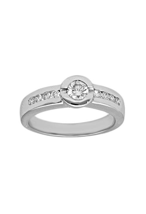 6c970ecf4773 Anillo de compromiso oro con diamante
