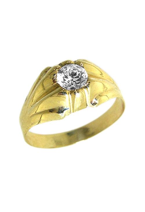 3220fc75e237 Anillo de oro amarillo de 9 ktes para hombre con circonita 9K511961