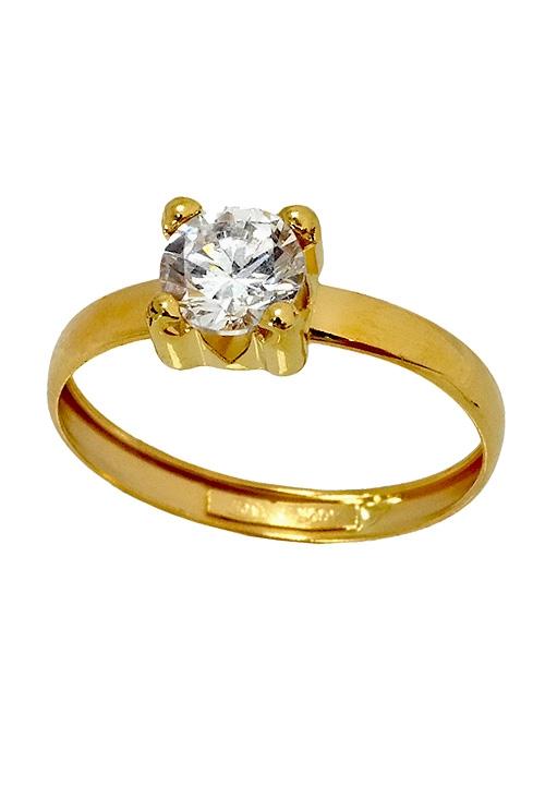 705508871882 Anillo oro amarillo 18K con circonita 085_11739