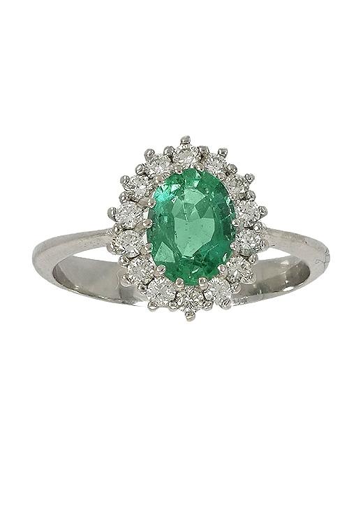 e05c7b7fde3 Anillo oro blanco 18 ktes esmeralda y diamantes 289_340018SFEB