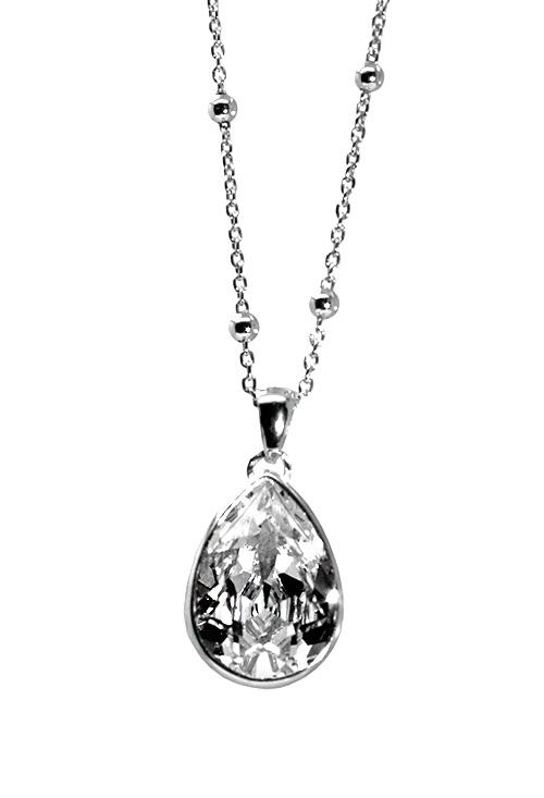 8fdc750aa07b Cadena y colgante para mujer en plata con cristal Swarovski color Crystal  273 A2090-7G Victoria Cruz