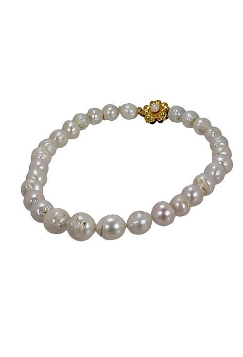 286f815dd3ab Collar perlas cultivadas barrocas y broche oro 18 ktes. en Outlet