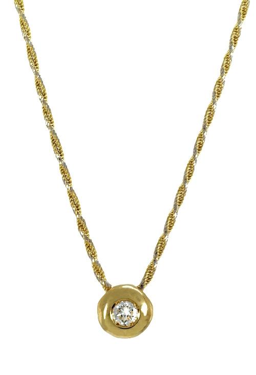 1bbc09b4e843 Gargantillas oro con diamante