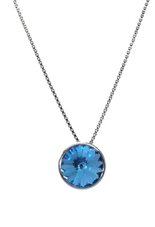 aeebdeb71df0 Collares y Gargantillas de plata y cristal swarovski color Aguamarina  273_A2809-10G
