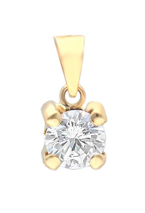Colgante garras circonita de plata chapada en oro