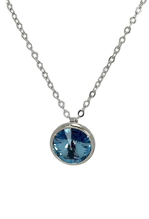 69ef9beb078a Gargantilla de plata con cristal Swarovski color Aguamarina 273_A3039-10G