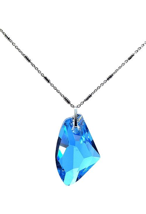 f4c2d926b947 Gargantilla en plata con cristal swarovski color aguamarina 273_A3092-4G