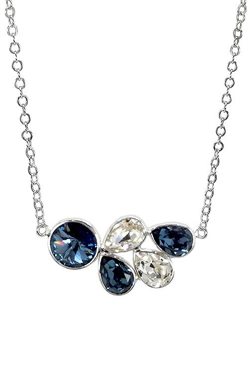 9493142a2989 Gargantilla en plata con cristales Swarovski color Denim Blue y Crystal  273 A3204-3G
