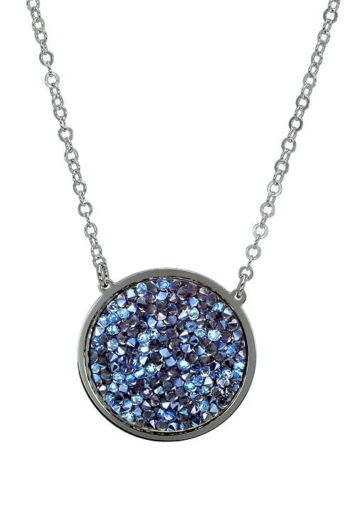 ab6aca31701e Gargantilla en plata para mujer con cristales Swarovski color Denim Blue  273 A3109-4G