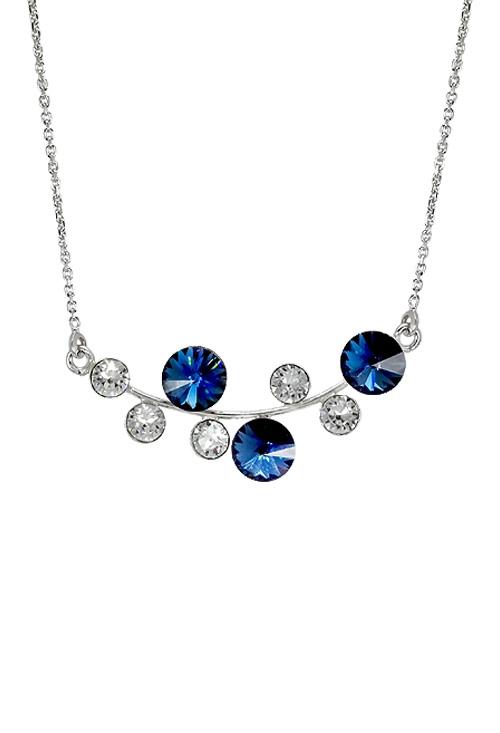 1787433cbca1 Gargantilla para mujer en plata rodinada con cristales swarovski Crystal y Denim  Blue 273 A3180-3G