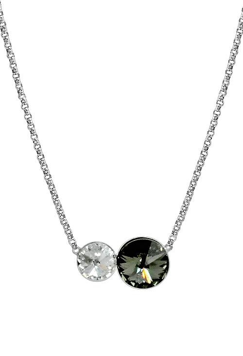 706ae7167c42 Gargantilla plata rodinada con cristales swarovski Crystal y Diamond  273 A3095-3G