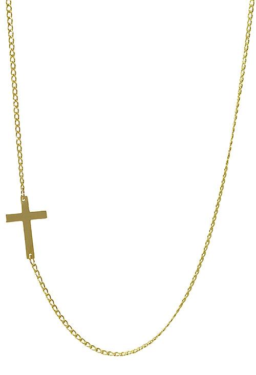 df066f86f9b5 Gargantilla oro 18 ktes con cruz latina horizontal NUEVO MODELO