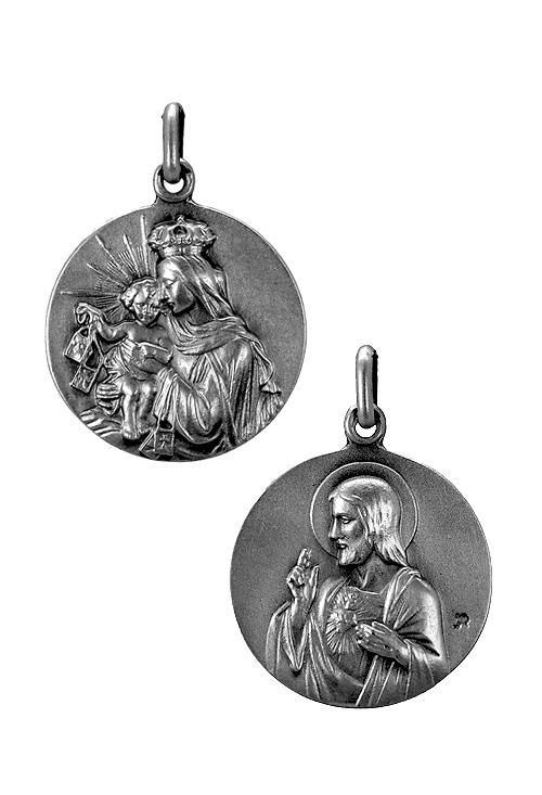 e1316aafe8b Medalla escapulario sagrado corazon virgen del carmen plata de ley essb jpg  500x733 Colgante escapulario virgen