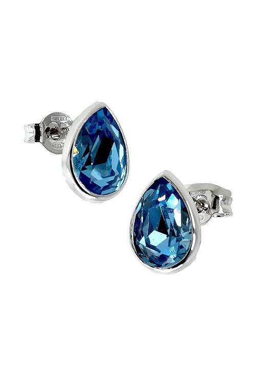 3eb46576efa1 Pendientes plata cristal Swarovski color aguamarina 273_A3168-10T