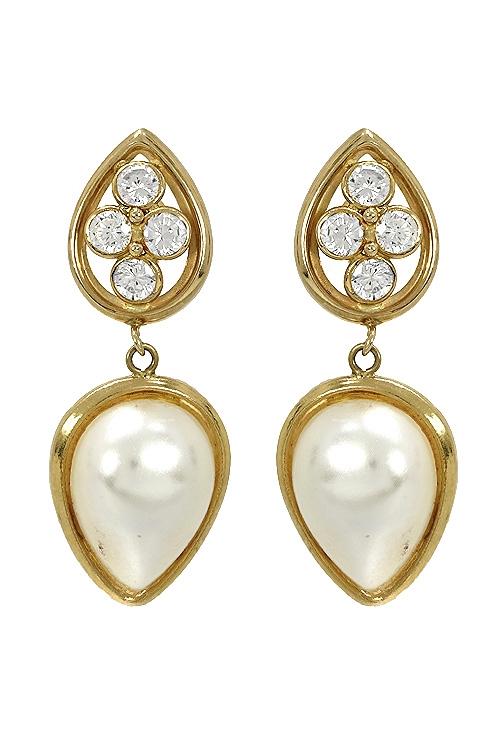 21f99117b009 Pendientes oro y perla mavelina precio de ocasión B-02655