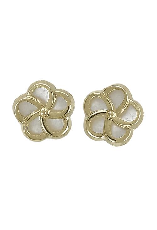 a4a1dae94f44 Pendientes oro y nácar forma de flor