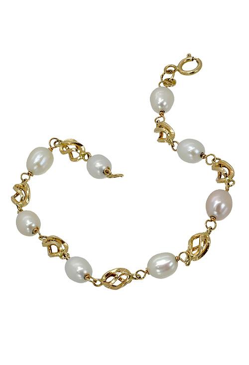118193283451 Pulsera oro amarillo y perlas cultivadas Primera Comunión 036 P51188