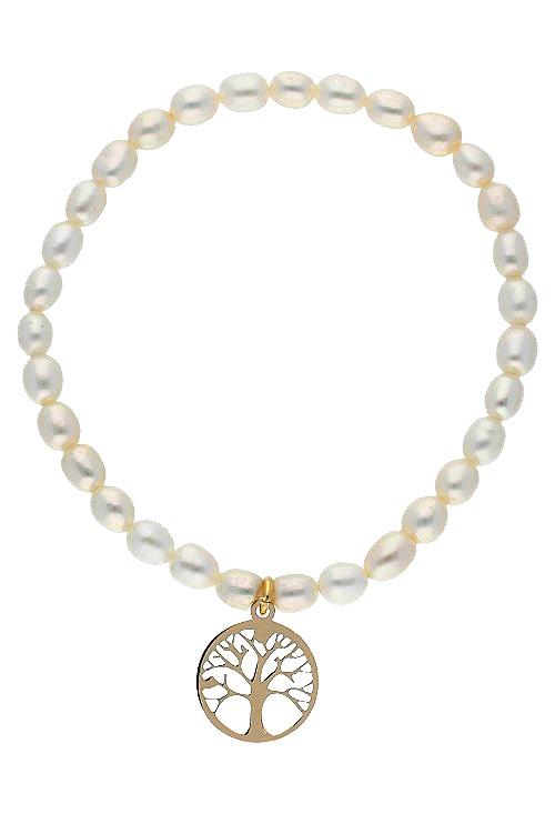 c33a170e2be1 Pulsera perlas cultivadas con arbol de la vida de oro 030 2259-2702