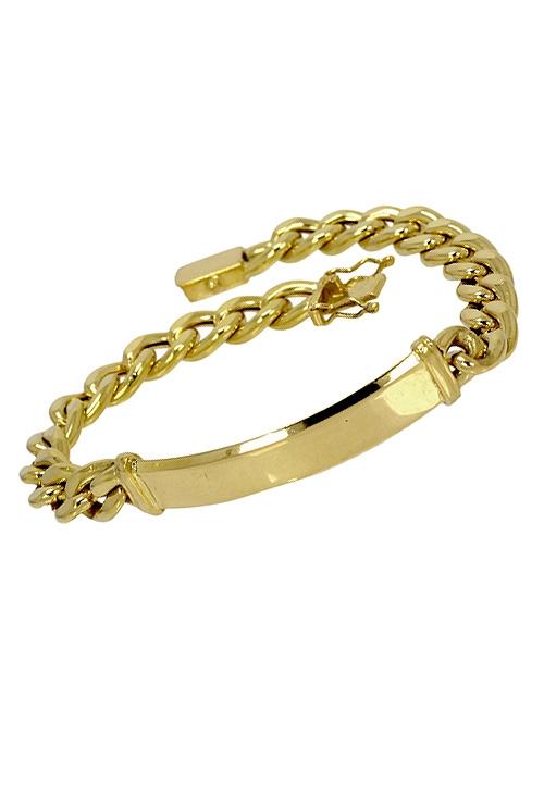 c7d7a42a8c14 Pulsera para hombre esclava de oro. 087_0203-01-C