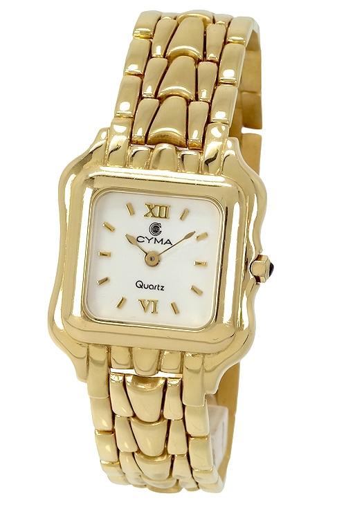 0d03f78b7f80 Reloj mujer marca CYMA caja y pulsera en oro de 18K 521 oferta online