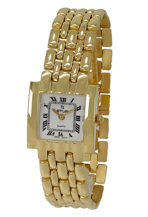 Reloj de oro 18 kilates para mujer marca Letual esfera cuadrada 109 T-1020 6fe60cef6662