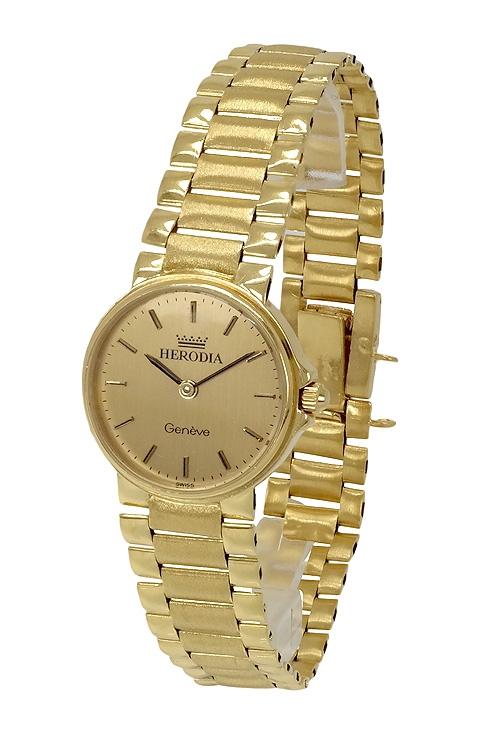 fe2c64dfc5f5 Reloj de oro para mujer marca Herodia 044_3368