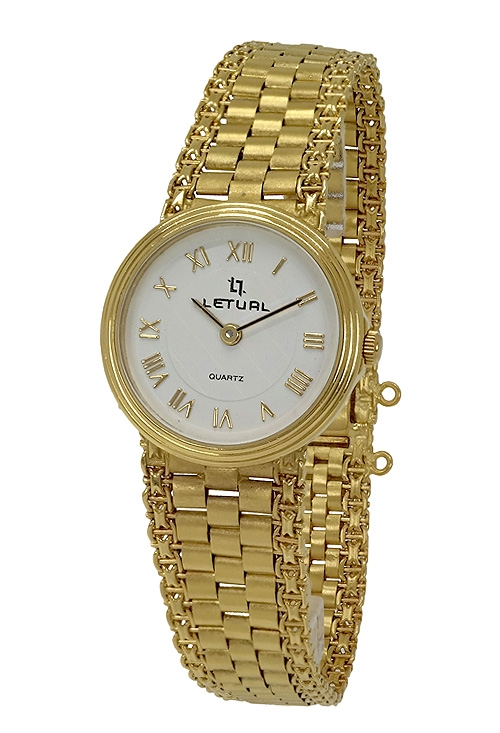 Reloj oro para mujer marca LETUAL venta online de joyas para mujer en oro de  ley T-0017 7a228d692b54