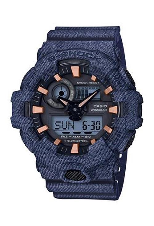 d700d19274e5 Reloj Casio G-Shock analógico digital Denimd´d Color 075 GA-700DE-2AER