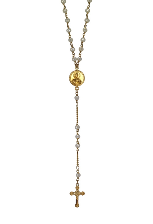 78c00121563e Rosario oro amarillo 18 ktes y perlas cultivadas rebajado!!! 140 R-020
