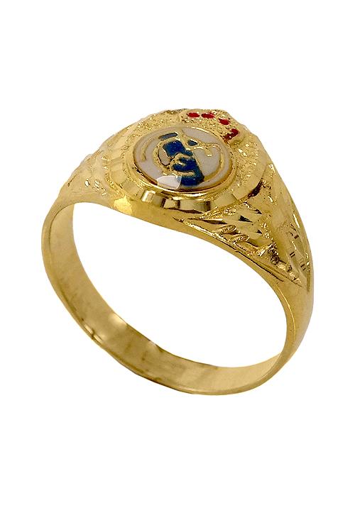 calidad compra venta venta barata del reino unido Sello de hombre oro amarillo Real Madrid. 033_RMEE