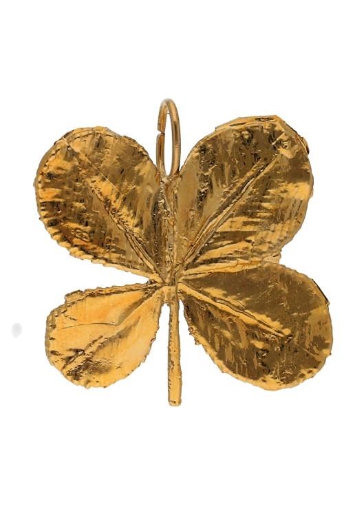 bb0f786103af Colgante trébol natural bañado en oro 270 TREBOL-A-4-4