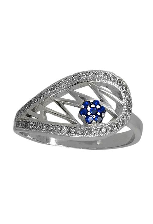 4584abc6cc16 Anillo de plata con motivo ovalado con circonitas 037 E14-067 joyería en  plata para mujer