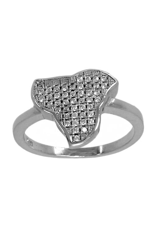 c2ea7e869c9e Anillo de plata con motivo triangular con circonitas 037 E14-069 joyería en  plata para mujer