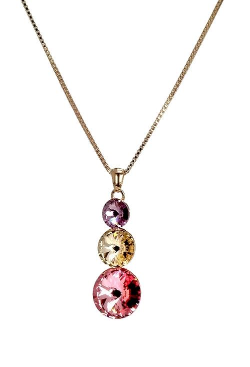 8ed9d2242b89 Collar en plata chapada con cristales swarovski certificados 273 A2183-7G  Victoria Cruz