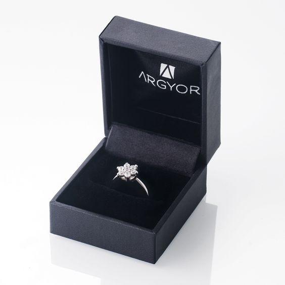 Caja anillos compromiso Argyor